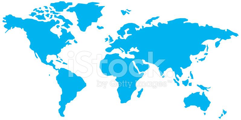 Simple World Map Stock Vector FreeImagescom
