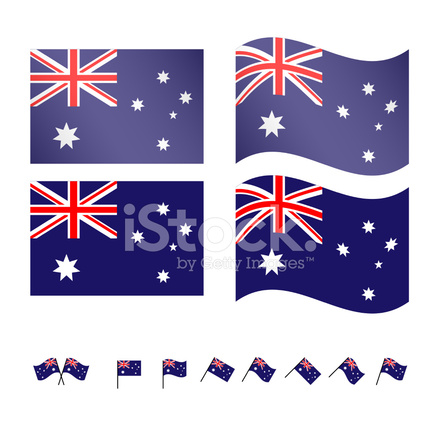 Avustralya Bayrağı Stock Vector Freeimagescom