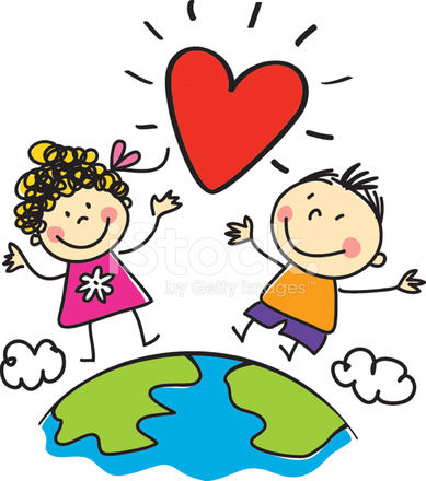 Love World Peace Kids Illustration Stock Photos FreeImagescom
