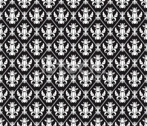 Retro Wallpaper Black And White Stock Vector Freeimages Com