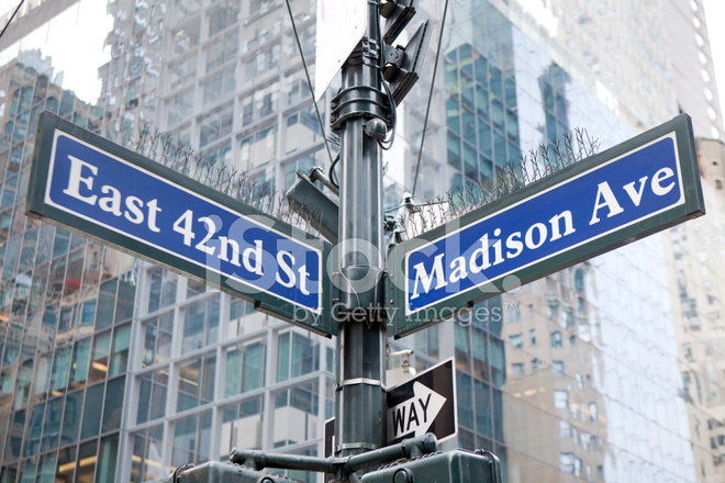 Madison avenue and 42nd street stock photos for Cocktail 42nd street