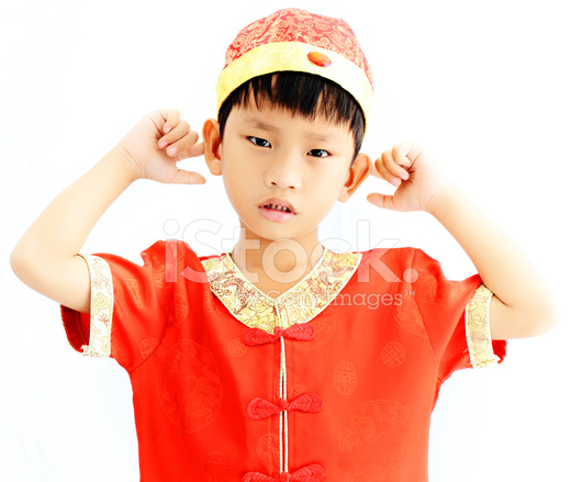 China boy in traditional chinese red tang suit greeting stock photos china boy in traditional chinese red tang suit greeting m4hsunfo
