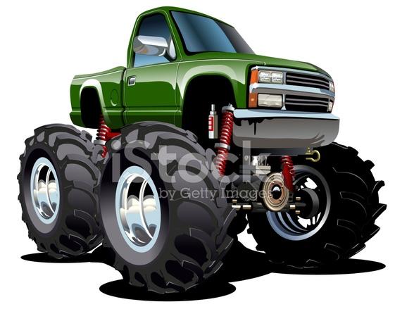 Cartone animato monster truck stock vector freeimages