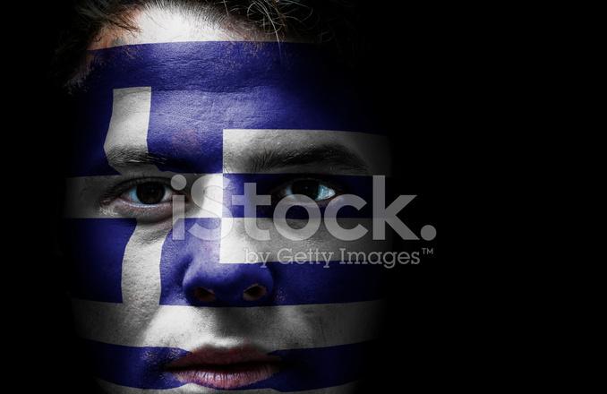 Yunanistan Yunan Bayrağı Yüz Stok Fotoğrafları Freeimagescom