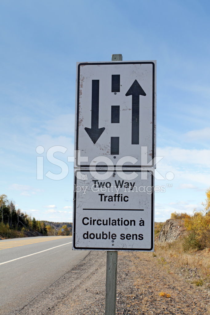 two way traffic sign stock photos freeimagescom