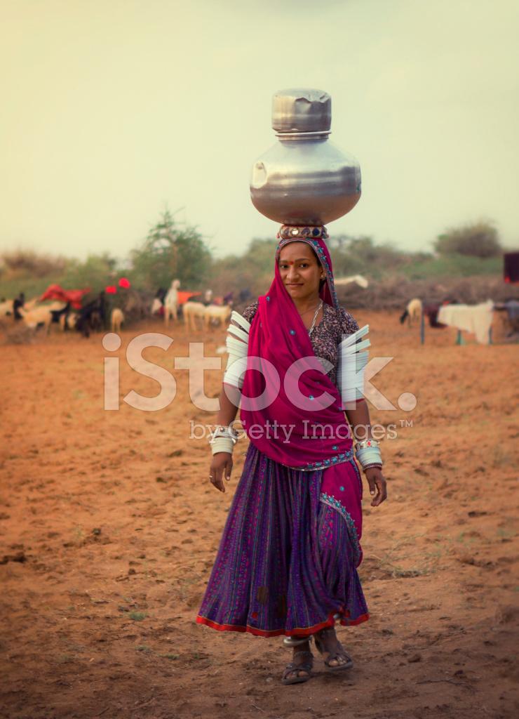 印度农村女孩 正版照片