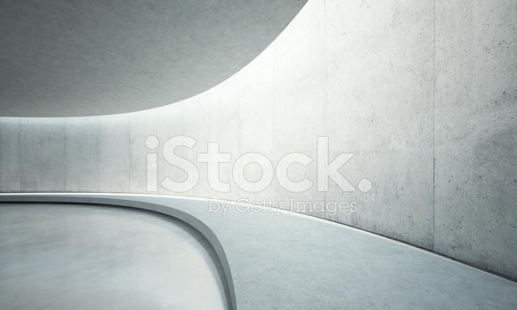 Beton In Interieur : Leere beton freiflächen interieur mit sonnenlicht stockfotos