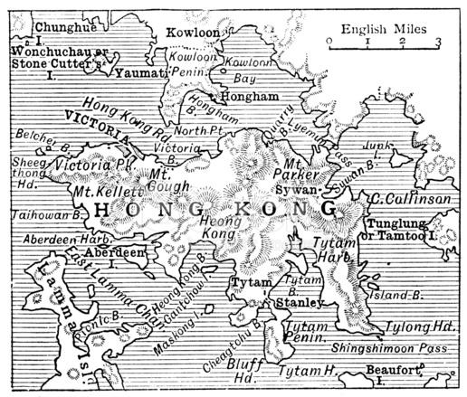 Cartina Hong Kong.Antique Map Of Hong Kong Stock Vector Freeimages Com