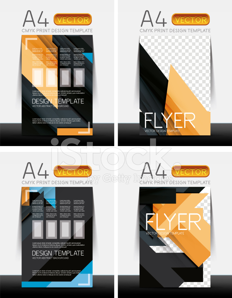 abstract flyer brochure templates set