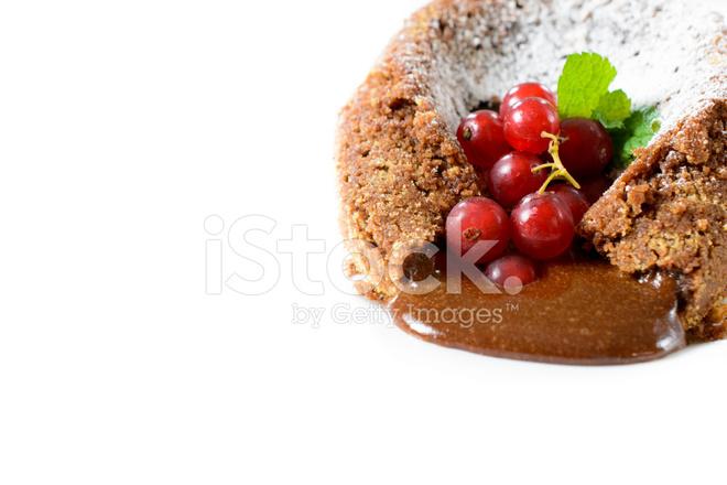 Lava Kuchen Isoliert Stockfotos Freeimages Com