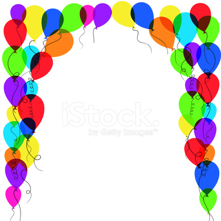Balloon Frame Stock Vector