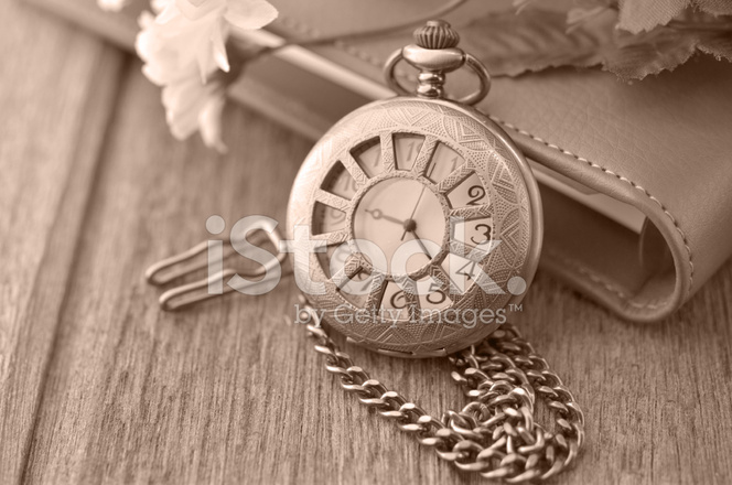 Antique Pocket Clock Made With Color Filters 2140849
