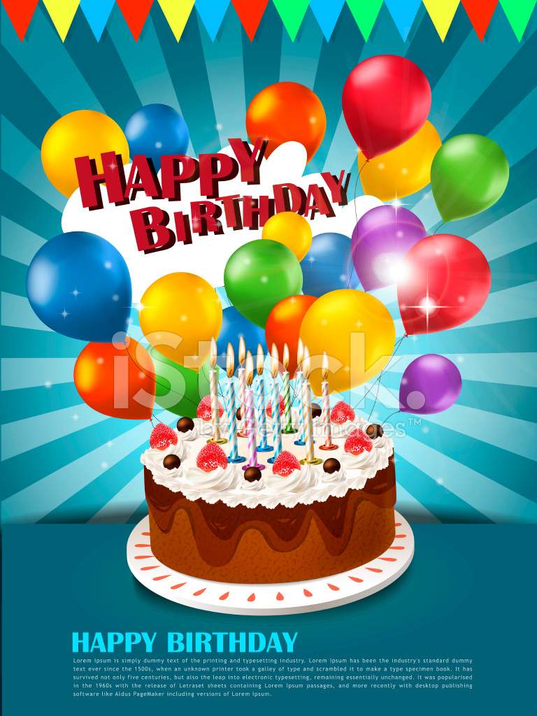 Happy Birthday Poster Stock Vector Freeimages Com
