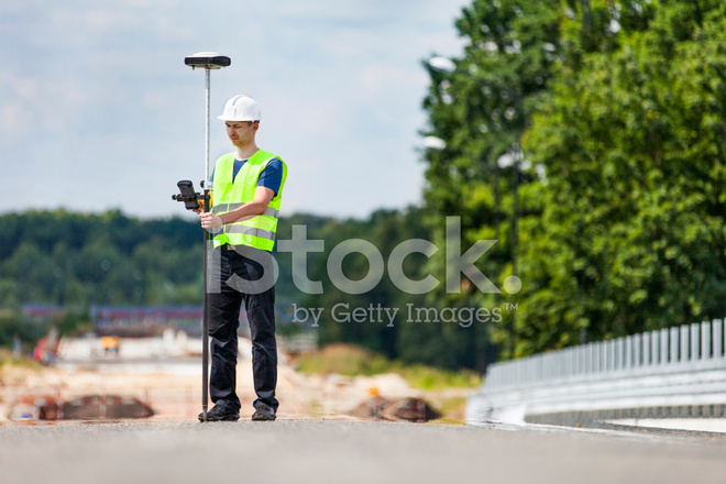 Land Surveyor Working With A Gps Unit Stock Photos - FreeImages com