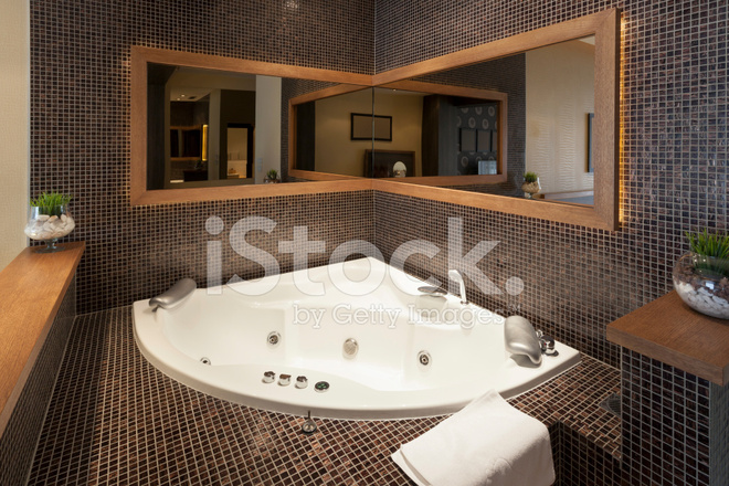 Modern open jacuzzi in room stock photos freeimages