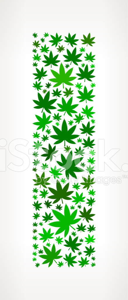 Letter i on marijuana royalty free vector art pattern for Design patterns for pot painting