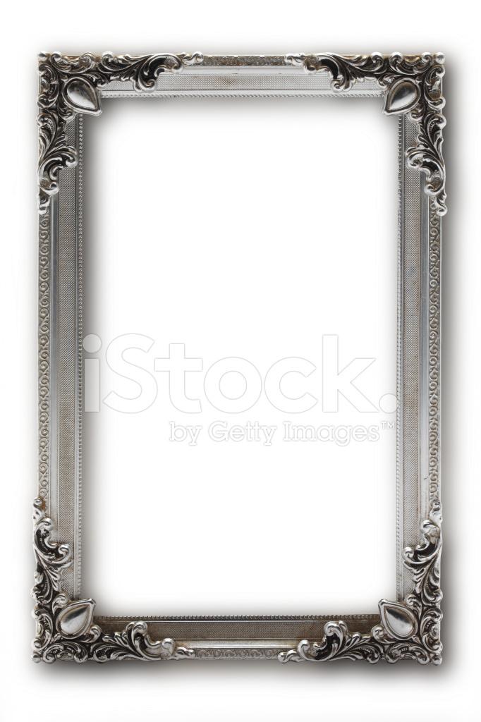 Silber Bilderrahmen Auf Weißem Hintergrund Stockfotos - FreeImages.com