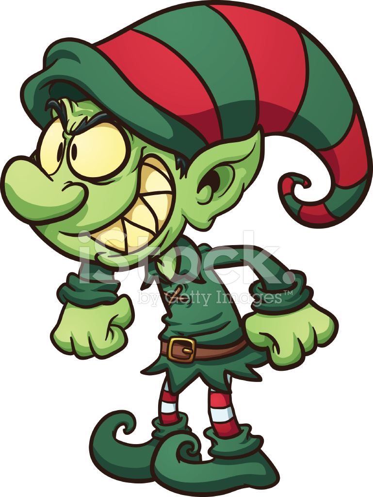 malvado duende de navidad stock vector freeimages com Dancing Mummy Clip Art Halloween Food Clip Art
