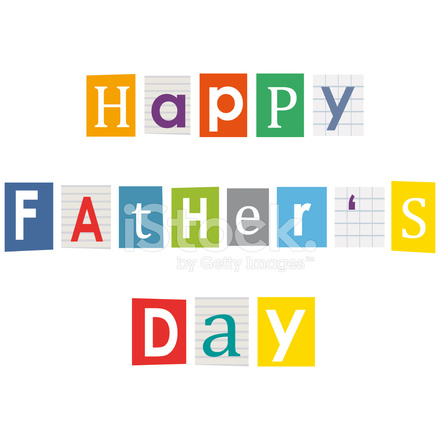 Happy fathers letters cut out of books and stock vector letters cut out of books and magazines spiritdancerdesigns Images