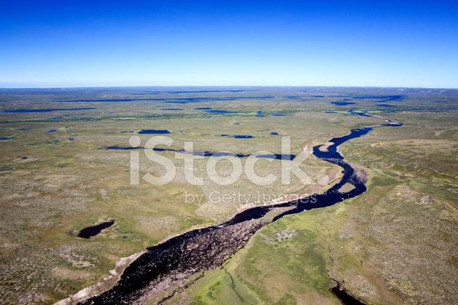 Aerial Photos Of Arctic Tundra Wetlands Stock Photos
