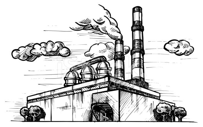 Нас родилась, картинки завода с трубами карандашом