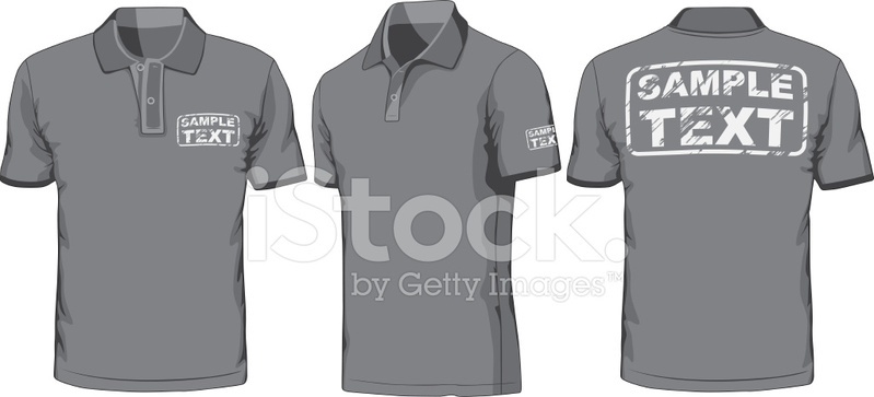 Front, Back and Side Views of Polo Shirt Stock Vector - FreeImages.com