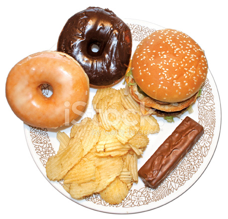 unhealthy food plate stock photos   freeimages
