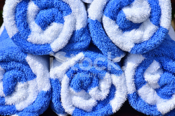 Swimming Pool Towels Roll Neatly Stock Photos - FreeImages.com