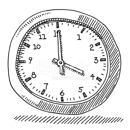 Time Office Clock Drawing Stock Vector FreeImagescom
