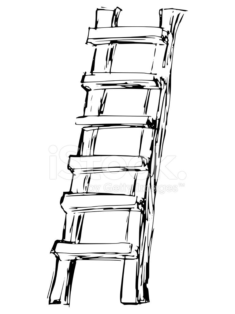 Wooden Ladder Stock Vector Freeimages Com