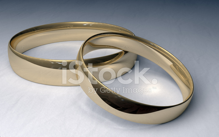 Gold Wedding Rings On White Cloth Stock Photos Freeimages Com