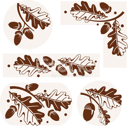 oak leaves ornament stock vector freeimages com oak leaves ornament stock vector