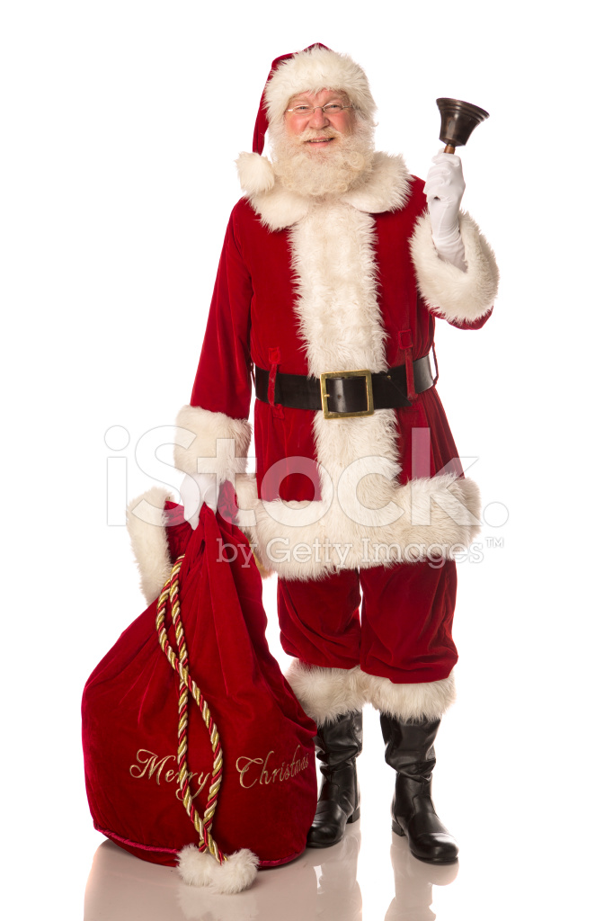 Santa claus ringing a bell stock photos freeimages