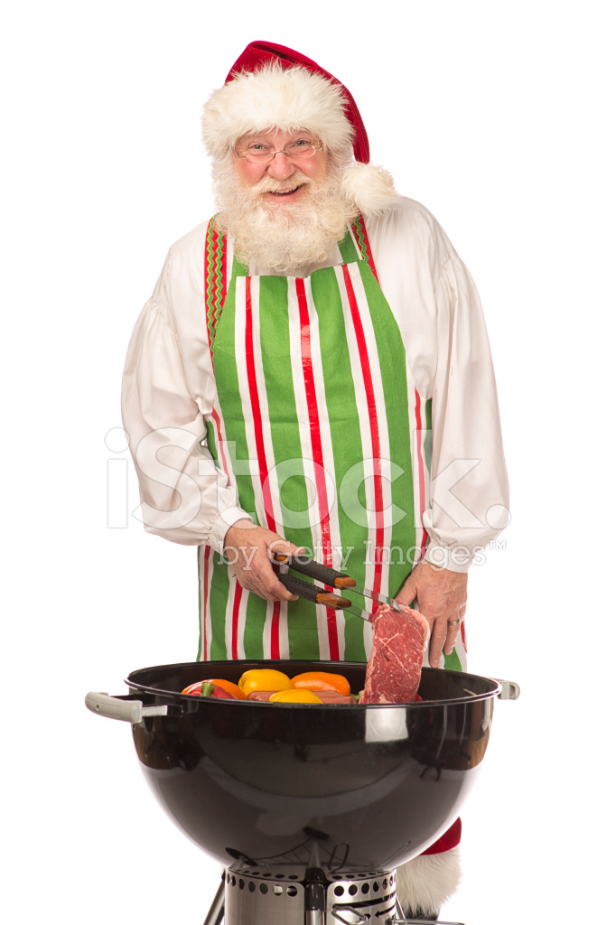 santa claus cooking on a grill stock photos freeimages com