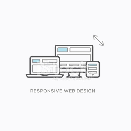 Responsive Web Design Abbildung Im Coolen Modernen Gliederung Stil ...