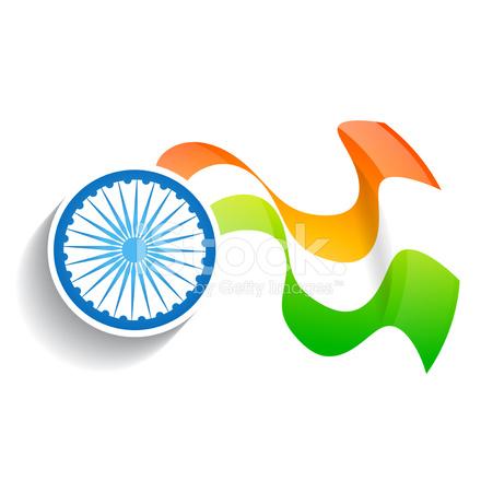 Indian Wave Flag Design Stock Vector - FreeImages com