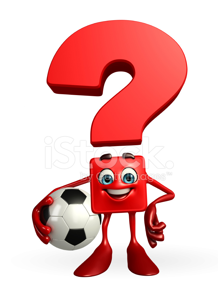 Character Design Questions : Question mark character with football stock photos