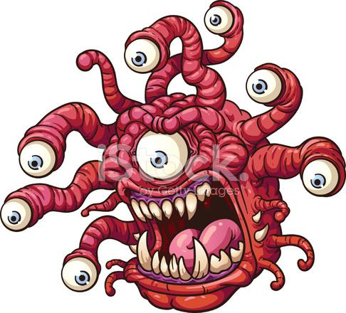 cartoon monster stock vector freeimages com