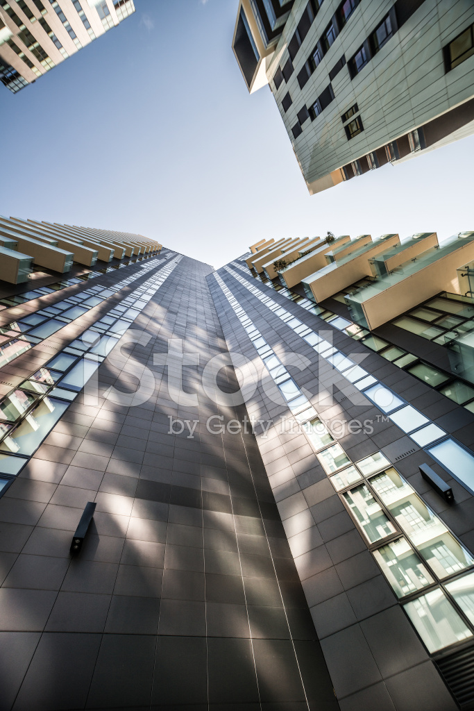 Modern Architecture In Milan Italy Stock Photos