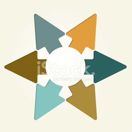 Premium Stock Photo Of Six Arrows Star Shape Radiating Infographic Cut Out