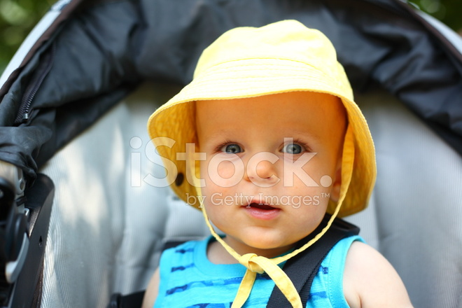 f9354d1b3f9 Smiling Baby Boy IN A Bucket Hat Stock Photos - FreeImages.com