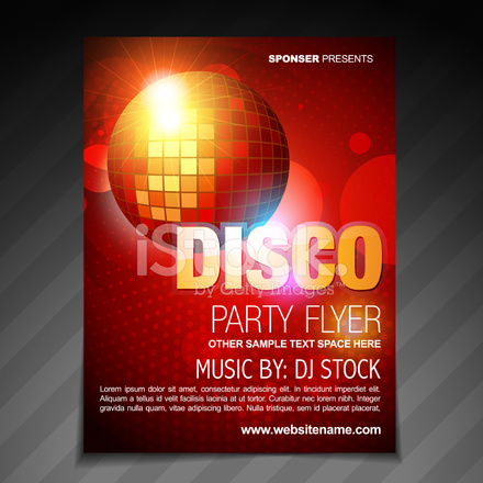 Disco Party Flyer Brochure Poster Template Design 1517962 on House Brochure Design