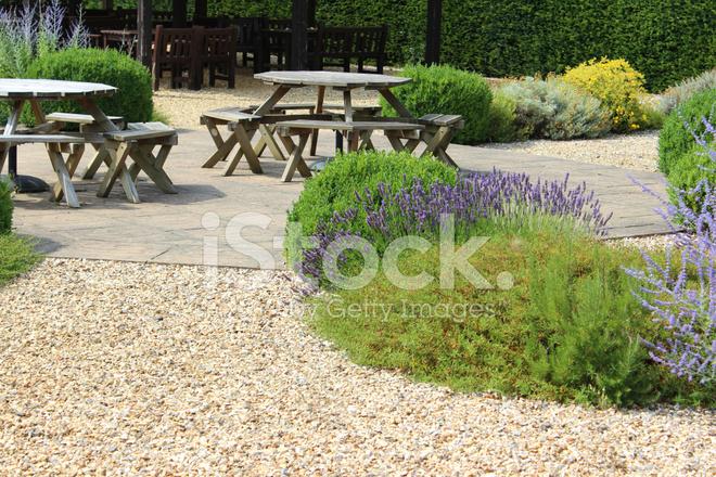 Afbeelding van versiering grind tuin screen tuin zomer bloem