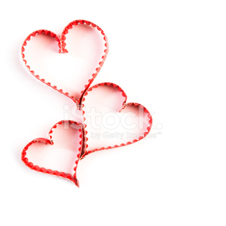 Paper Heart Shape Symbol For Valentines Day Stock Photos