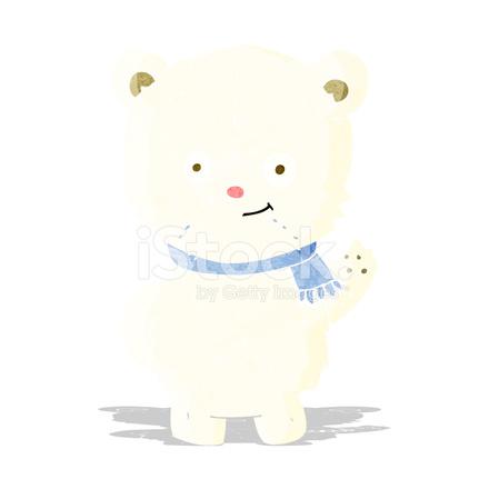 卡通北极熊图片 2018新年快乐卡通图片