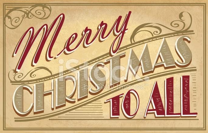 Navidad Vintage Diseño DE Felicitación Sobre Con Textura DE Papel ...