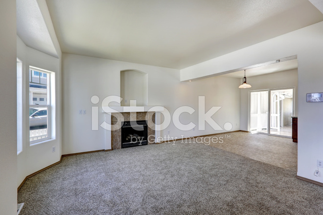 Living Room Interior In Empty House Stock Photos
