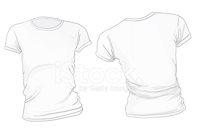 women s white t shirt template stock vector freeimages com