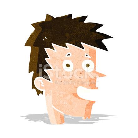 Cara De Niño Feliz De Dibujos Animados Stock Vector Freeimagescom