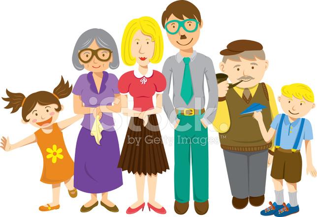 Dibujos Animados Familiares Stock Vector